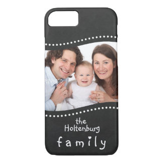 Your Family Photo and Name Chalkboard iPhone 7 Case