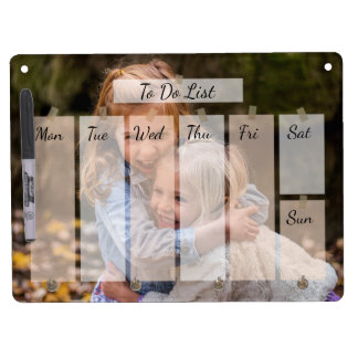 Your favorite photo Timetable personalized Dry Erase Board With Keychain Holder