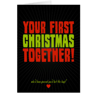 Your First Christmas Together Note Card