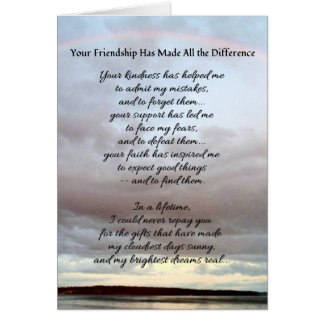 Your Friendship... Card