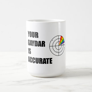 Your gaydar is accurate LGBT Pride Basic White Mug