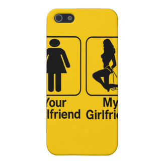 Your girlfriend My girlfriend Custom iPhone4 Cases Case For The iPhone 5