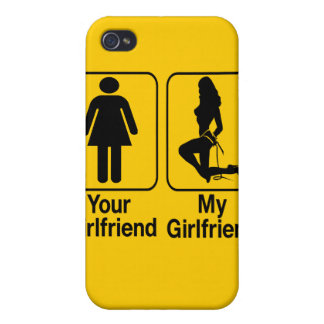 Your girlfriend My girlfriend Custom iPhone4 Cases iPhone 4/4S Case