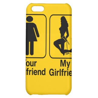 Your girlfriend My girlfriend Custom iPhone4 Cases iPhone 5C Cover