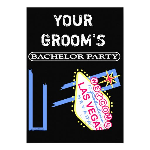 YOUR GROOM'S BACHELOR PARTY ANNOUNCEMENT