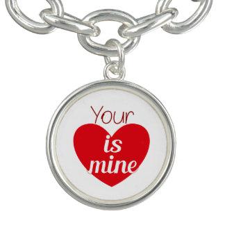 Your heart is mine bracelet
