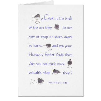 Your Heavenly Father feeds them/Encouragement Card