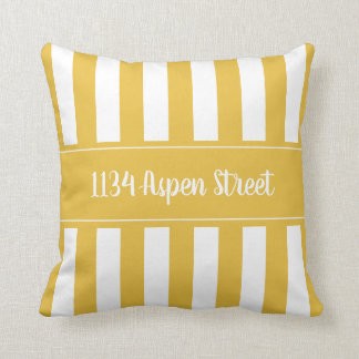 Your Home Street Mustard Striped Throw Pillow
