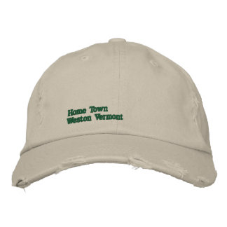 Your Home Town Hat Embroidered Baseball Cap