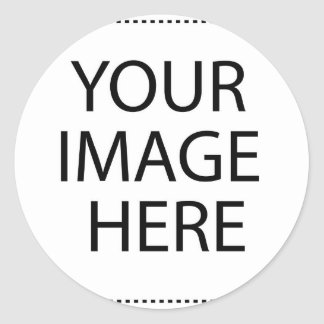 YOUR IMAGE HERE CLASSIC ROUND STICKER