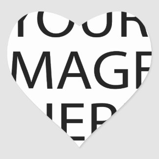 YOUR IMAGE HERE CUSTOMIZABLE HEART STICKER