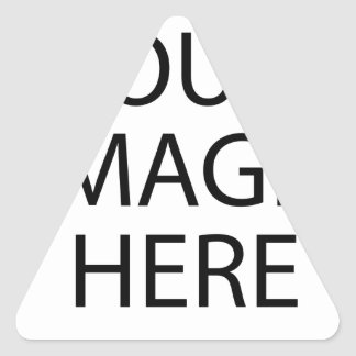 YOUR IMAGE HERE CUSTOMIZABLE TRIANGLE STICKER