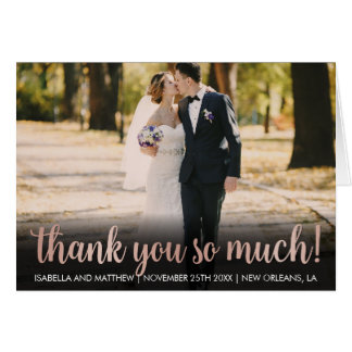 Your Image Here Rose Gold Thank You So Much! Pic Card
