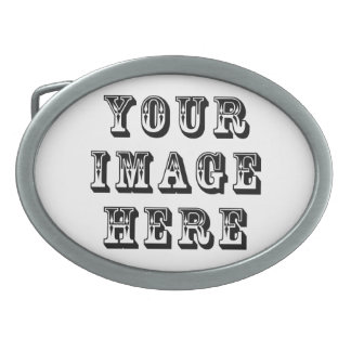 Your Image on Oval Belt Buckles