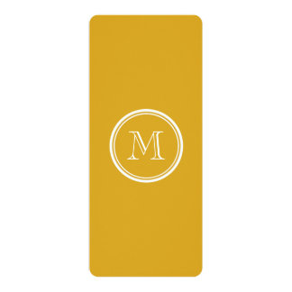 """Your Initial Goldenrod High End Colored 4"""" X 9.25"""" Invitation Card"""
