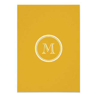 "Your Initial Goldenrod High End Coloured 5"" X 7"" Invitation Card"