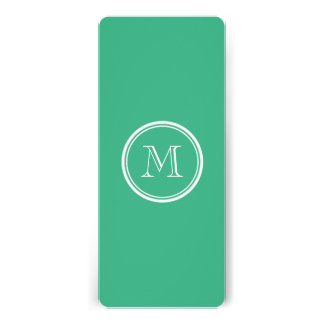 Your Initial Mint Green High End Colored Invitation