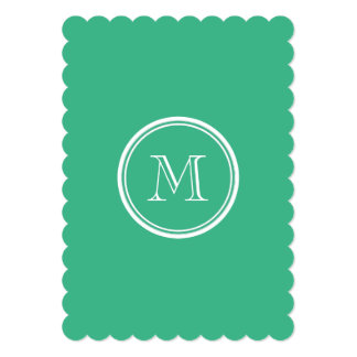Your Initial Mint Green High End Colored Personalized Invitation