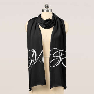 Your Initials Elegant Monogrammed Scarf
