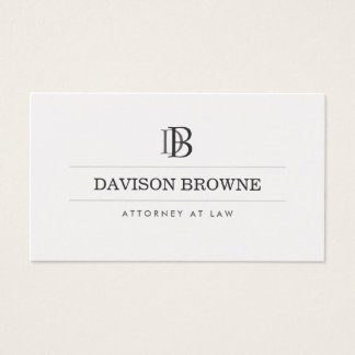 YOUR INITIALS LOGO/MONOGRAM No. 4 Business Card