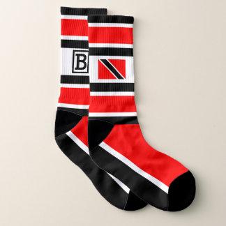 Your Initials / Monogram Trinidad Flag Socks