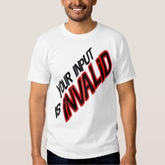 Your input tee shirt