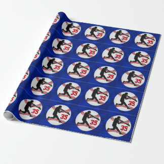 Your Jersey Number Baseball Gift Wrapping Paper
