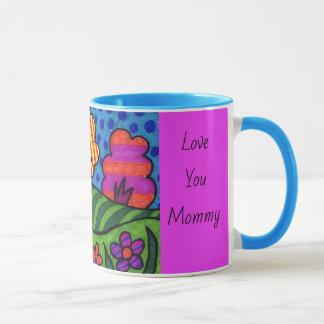 YOUR Kids Art Coffee Mug COLOR Handle Mothers Day