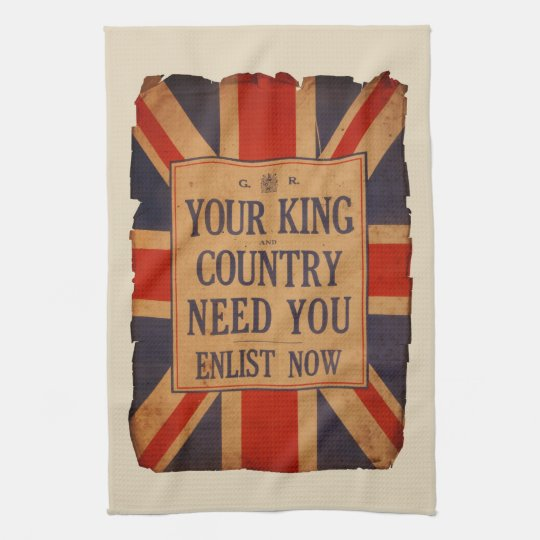Your KING and COUNTRY need you - Vintage War Kitchen Towel
