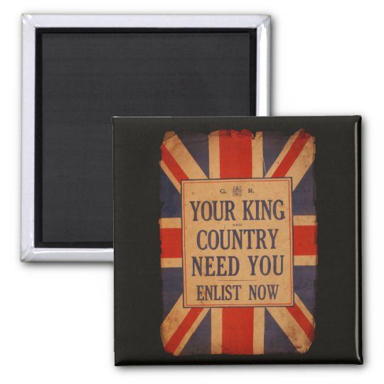 Your KING and COUNTRY need you - Vintage War Magnet