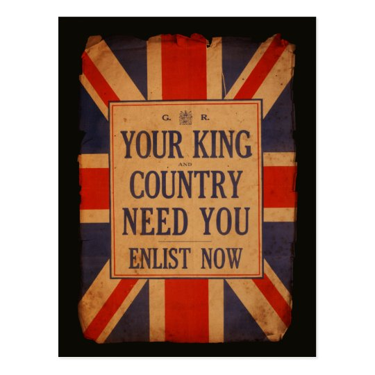 Your KING and COUNTRY need you - Vintage War Postcard