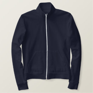 Your Last Name College Embroidered Track Jacket