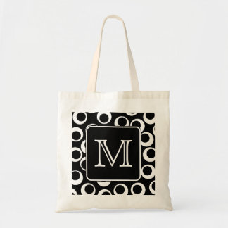 Your Letter. Black and White Monogram. Fun Pattern