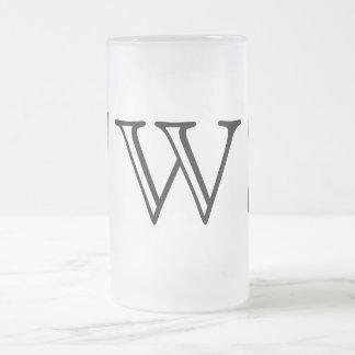 Your Letter. Custom Black / White Swirl Monogram. Mugs