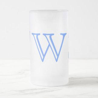 Your Letter. Custom Blue Swirl Monogram. Coffee Mugs