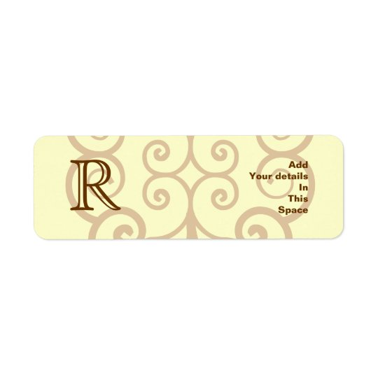 Your Letter. Custom Brown Monogram. Old Fashioned.