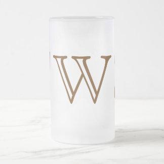 Your Letter. Custom Brown Monogram. Old Fashioned. Coffee Mug