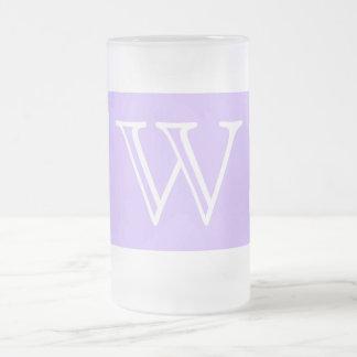 Your Letter. Custom. Lilac Purple Swirl Monogram. Coffee Mug