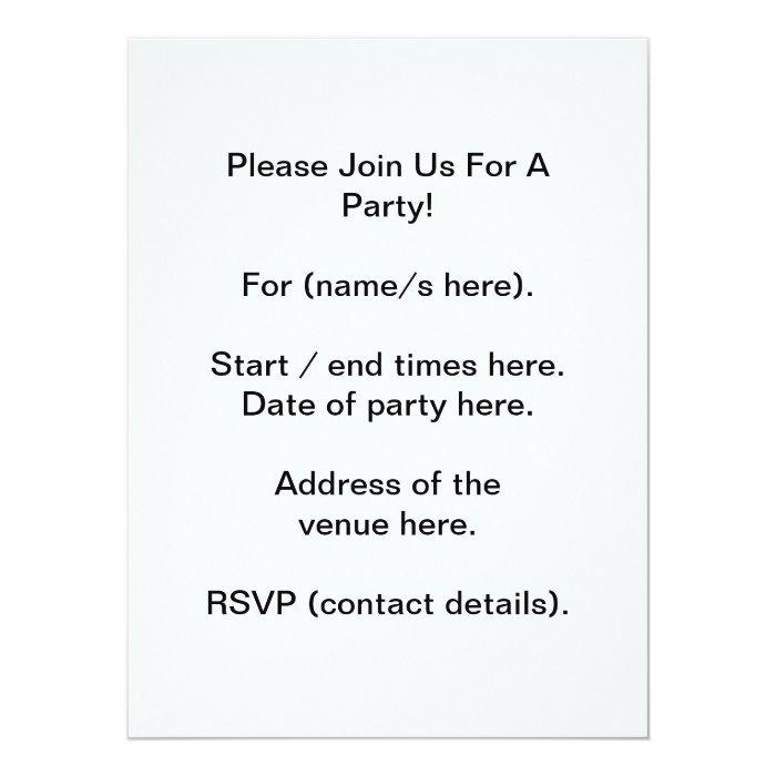 "Your Letter. Custom Monogram. Black and White 6.5"" X 8.75"" Invitation Card"