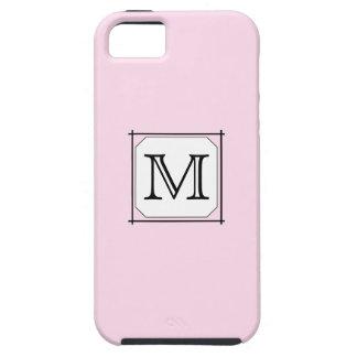 Your Letter. Custom Monogram. Pink Black White. iPhone 5 Cover