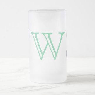 Your Letter. Custom Multi Colored Swirl Monogram. Coffee Mug