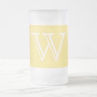 Your Letter. Custom Yellow Swirl Monogram. Coffee Mug