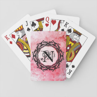 Your Letter Old Vintage Romantic Rose Pattern Playing Cards