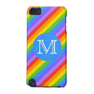 Your Letter, Rainbow Stripes Monogram. iPod Touch (5th Generation) Case