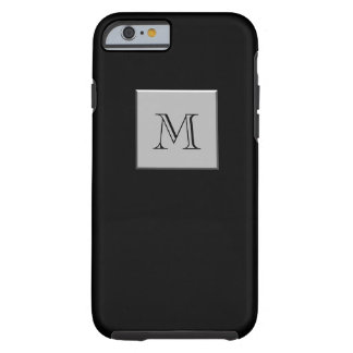 Your Letter Your Monogram Silver Black Tough iPhone 6 Case