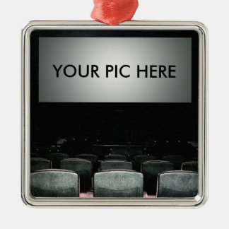 Your Life at the Movies Silver-Colored Square Ornament