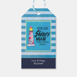 Your Light Shines Bright Lighthouse Thank You Gift Tags