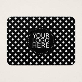 Your Logo Here and Dots Gold Business Card
