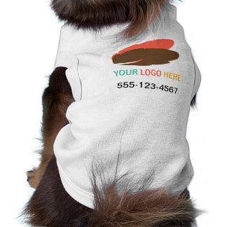 Your logo here pet business promotional marketing pet tee