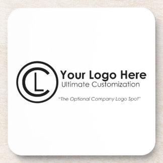 Your Logo Here Simple & Custom Promo Cork Coasters